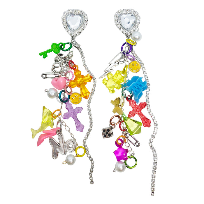Mixed Emotions Charm Earrings