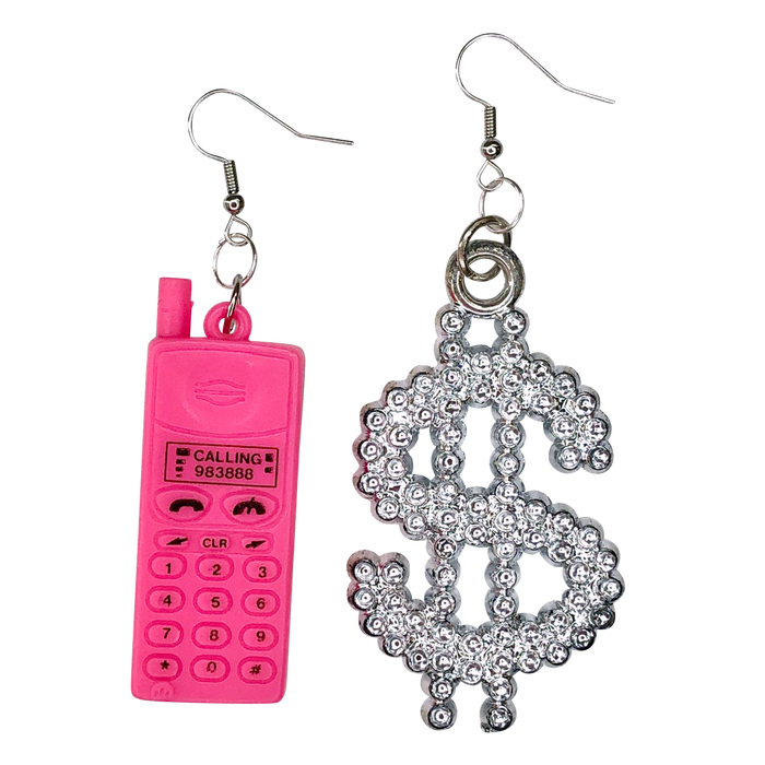 Vintage Money Talks Charm Earrings (4370136957011)