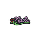 Nails Neon Sign Pin
