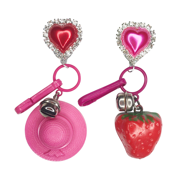 Vintage Picking Berries Charm Earrings (4370146230355)