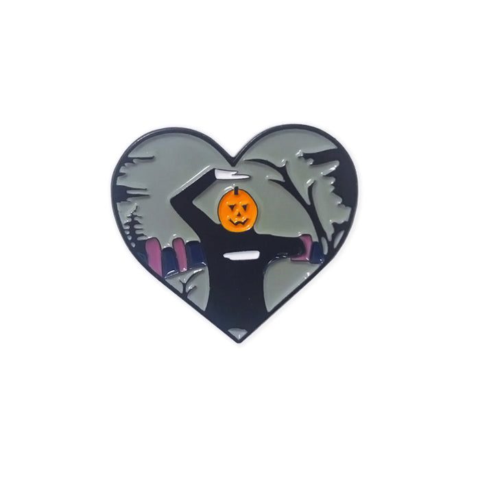 Pumpkin Man Dance Pin-Laser Kitten