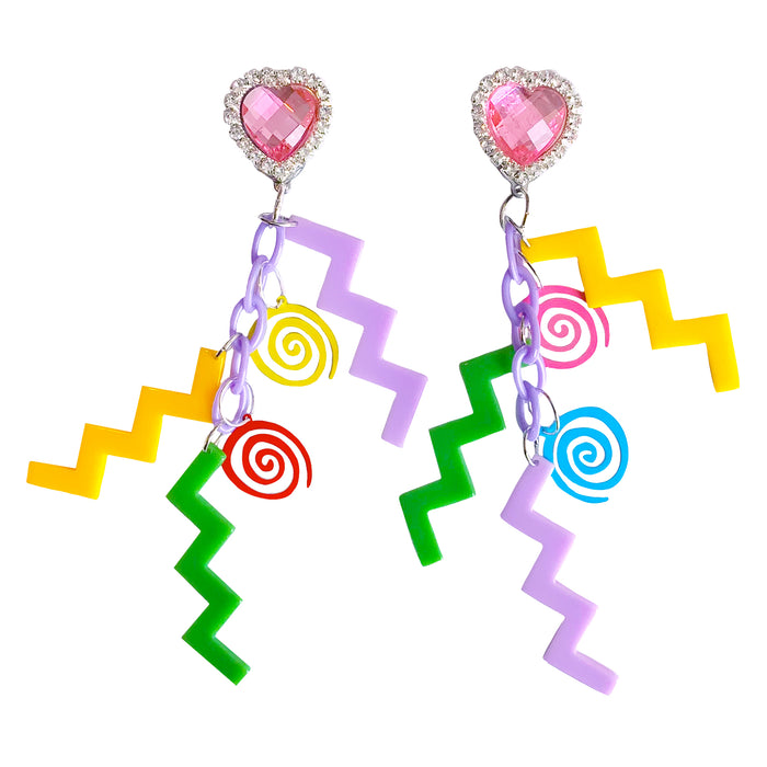 Saved By The Aesthetic Charm Earrings