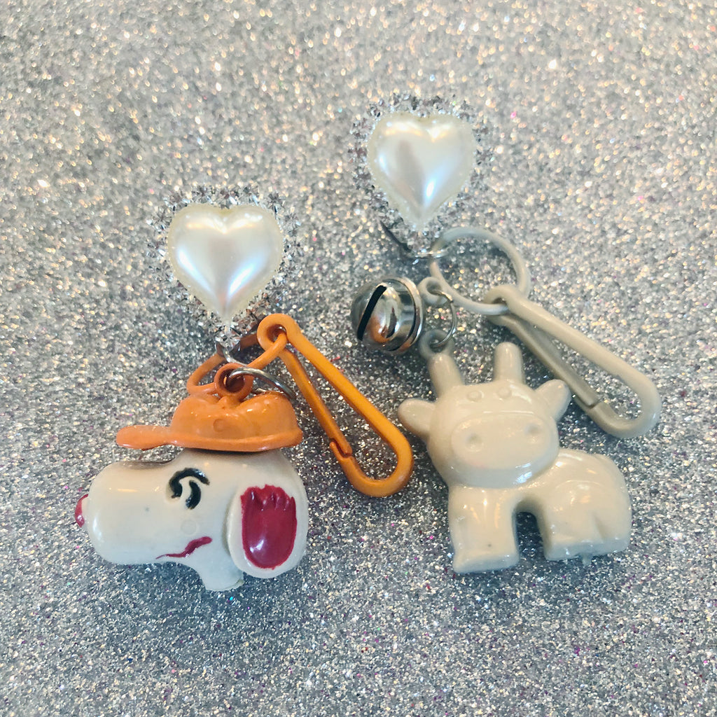 Vintage Snoopy Charm Earrings