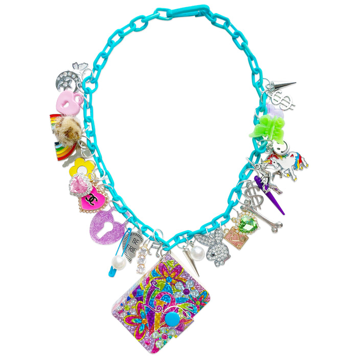 '90s Lisa Frank Magic Book Charm Necklace
