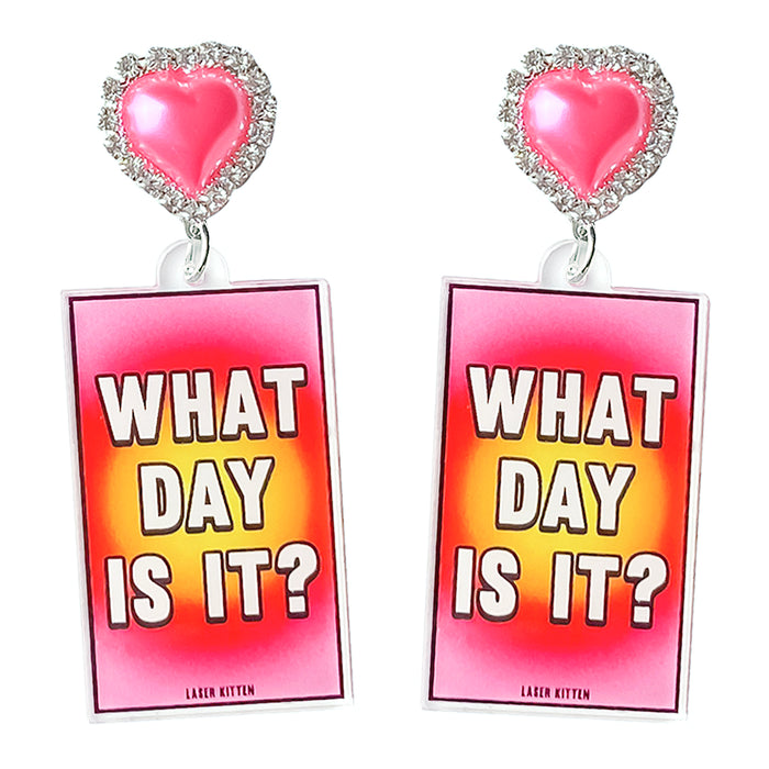 What Day Even Is It? Charm Earrings