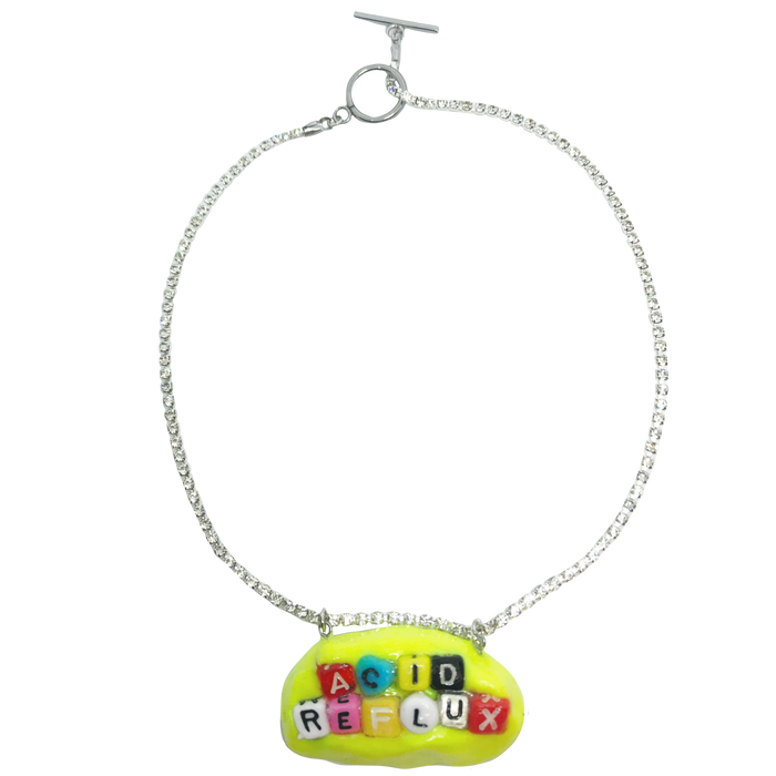 Yellow Acid Reflux Charm Necklace