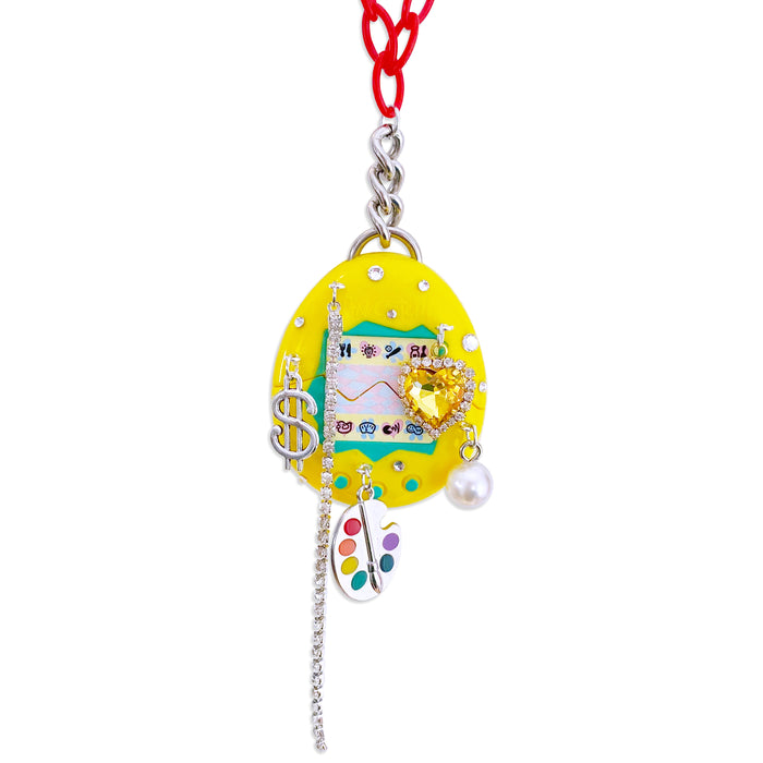 1997 Vintage Tamagotchi Charm Necklace