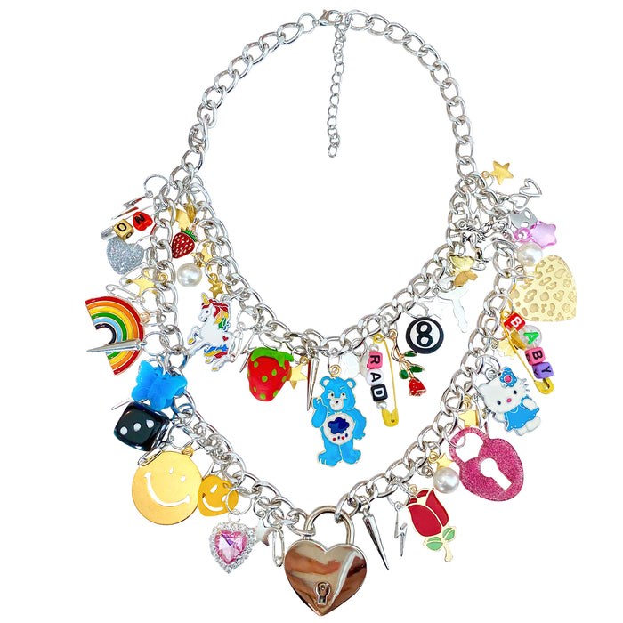 Rockstar Double Layer Charm Necklace