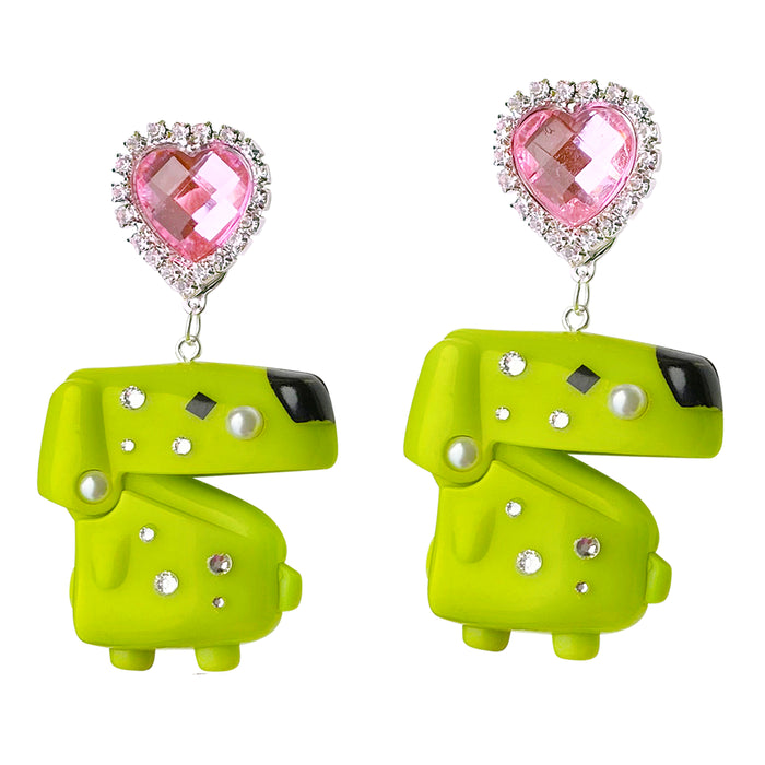 1997 Vintage Tamagotchi Dog Charm Earrings