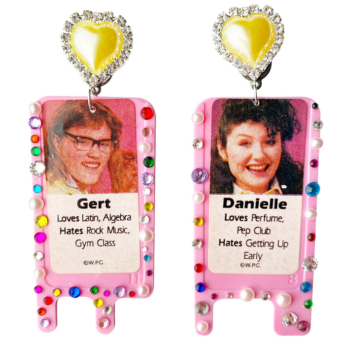 Bedazzled 1989 Date Line Charm Earrings