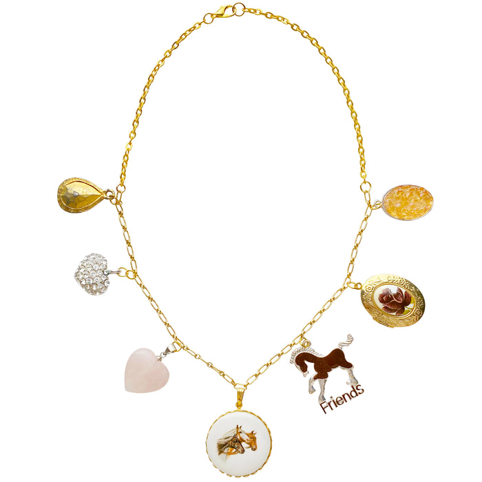 Horsin' Around Vintage Remix Charm Necklace