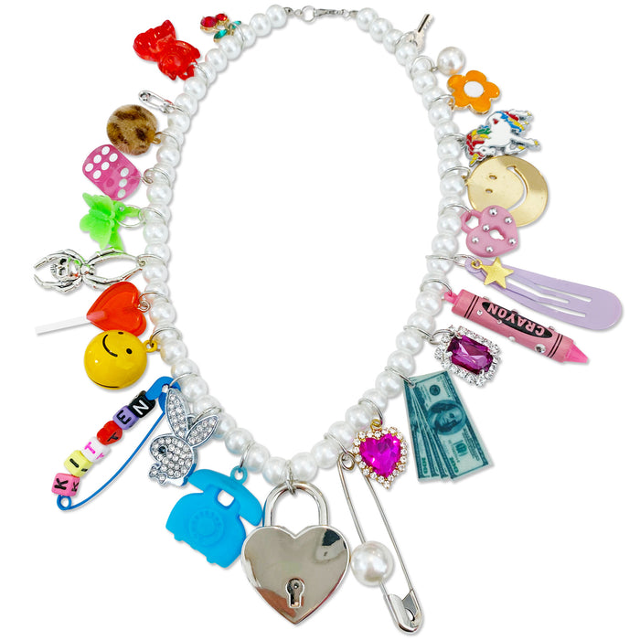Punk Princess Charm Necklace