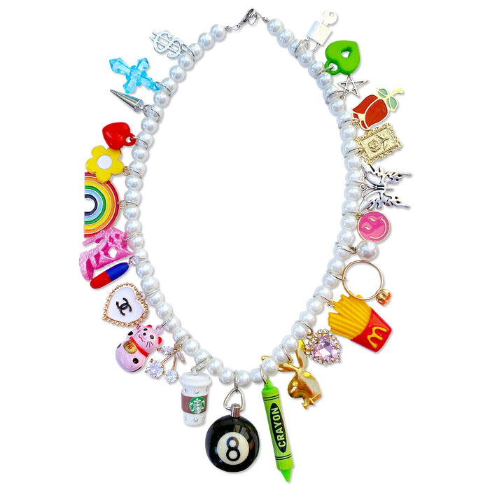 Magic 8 Ball Charm Necklace