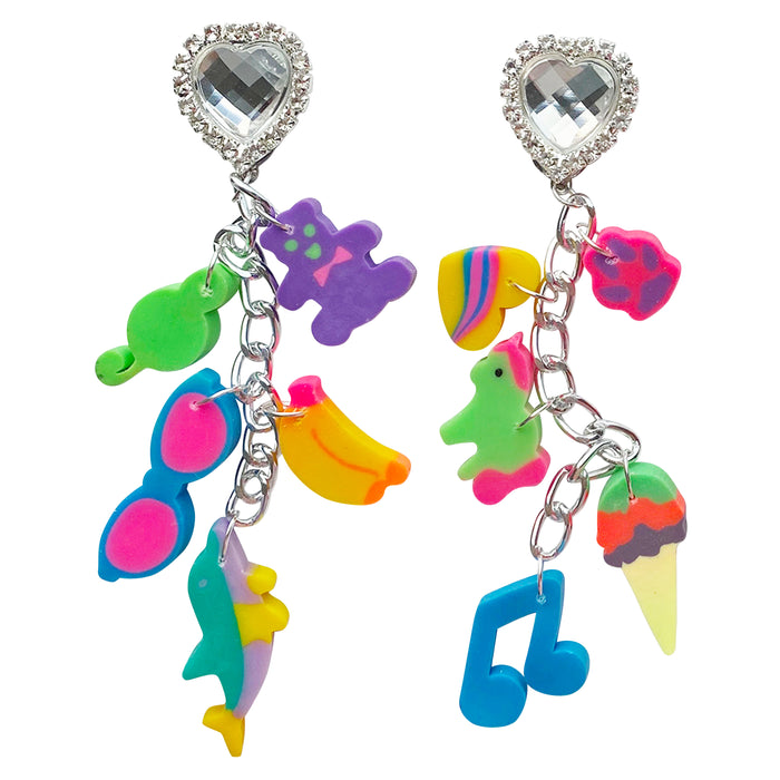 90's Lisa Frank Eraser Charm Earrings