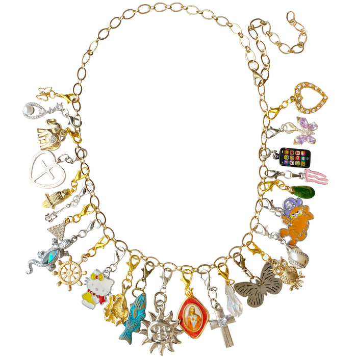 Junk Punk Vintage Remix Charm Necklace