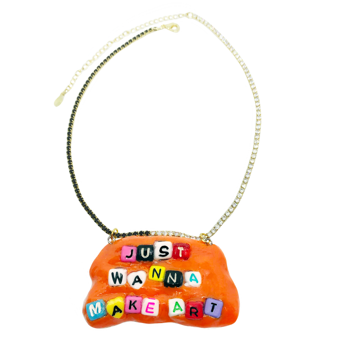 Make Art Charm Necklace