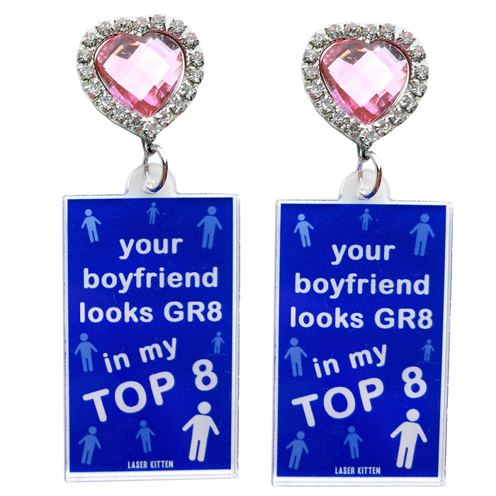 Top 8 Boyfriend Charm Earrings