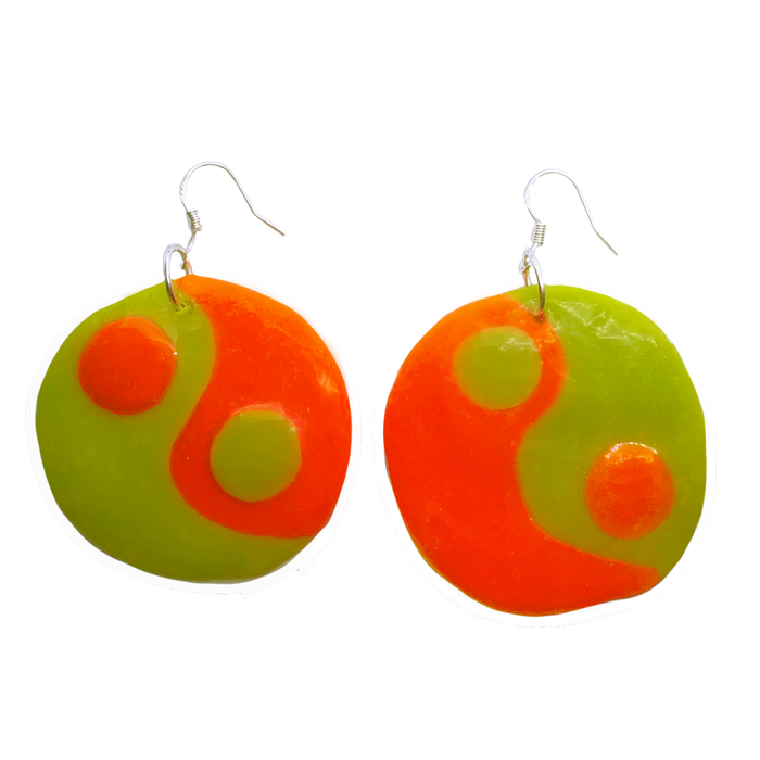 Mod Squad Yin Yang Charm Earrings