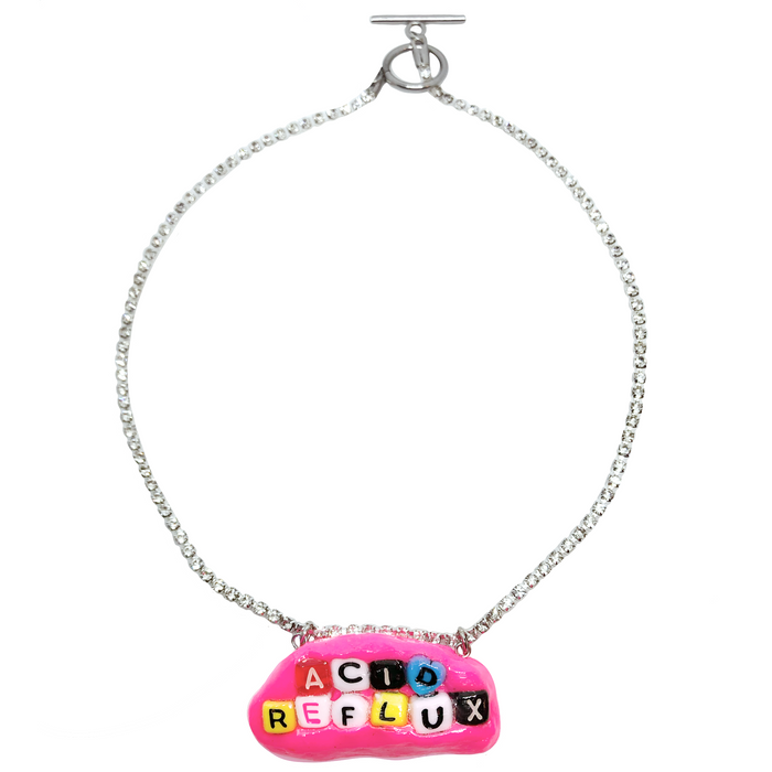 Pink Acid Reflux Charm Necklace