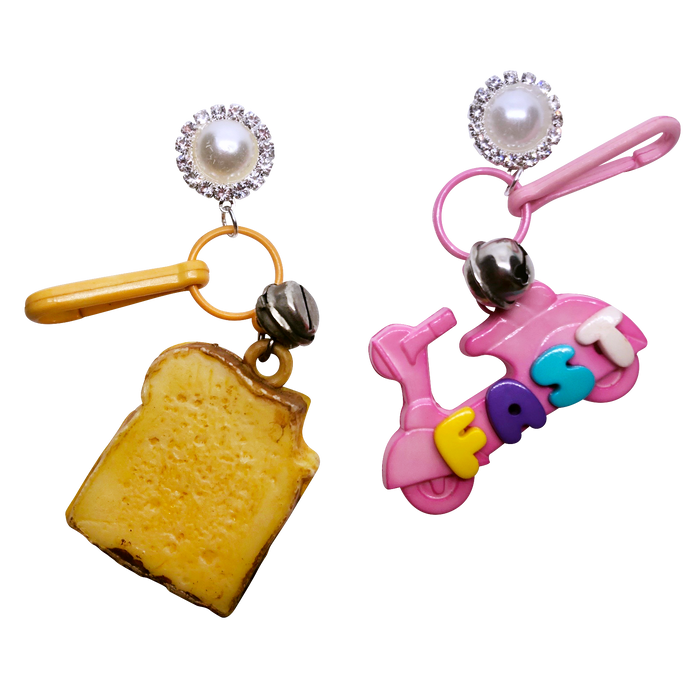 Vintage Fast Food Charm Earrings