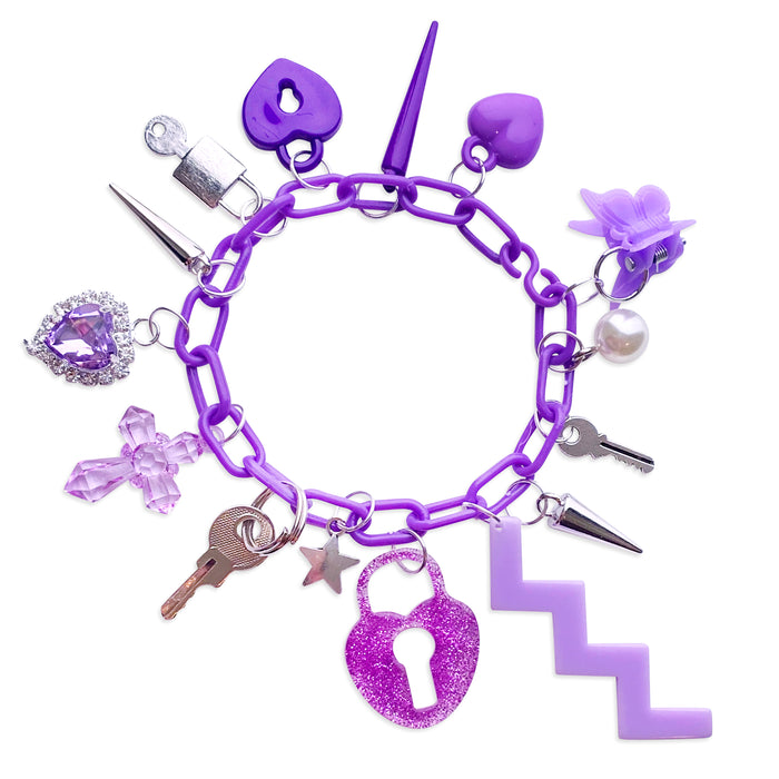Lucky Purple 15 Charm Bracelet