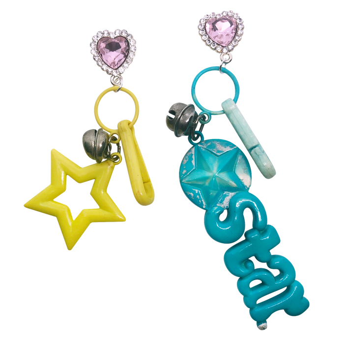 Vintage Seeing Stars Charm Earrings (4367440838739)