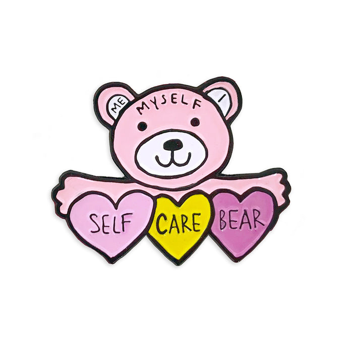 Self Care Bear Pin