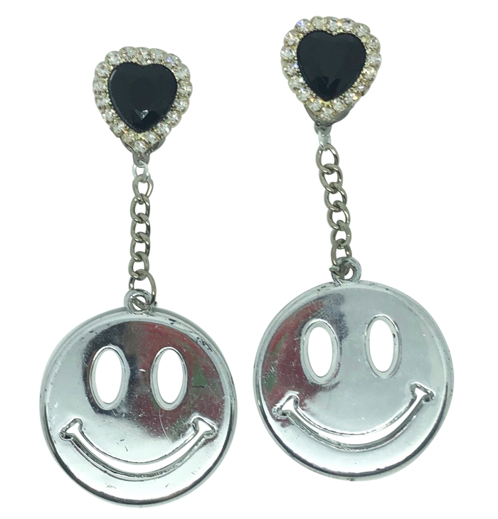 Vintage Don't Worry Be Happy Charm Earrings (4396154060883)