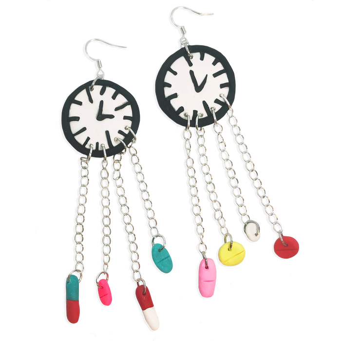 Time To Take Your Pills Earrings