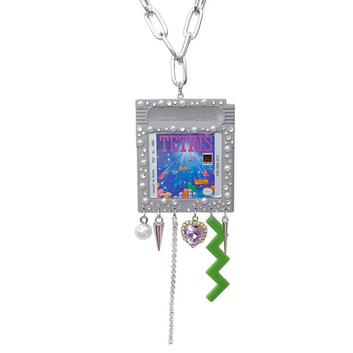 1989 Vintage Tetris Charm Necklace