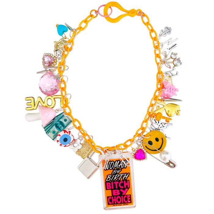 Bitch By Choice Charm Necklace
