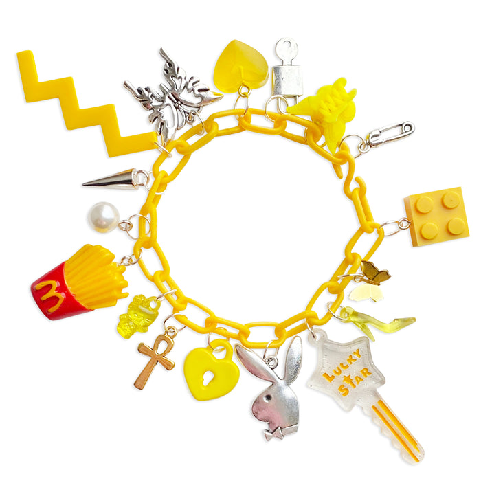 Lucky Yellow 17 Charm Bracelet