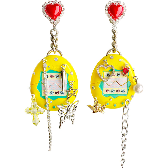 1997 Vintage Drippy Tamagotchi Charm Earrings