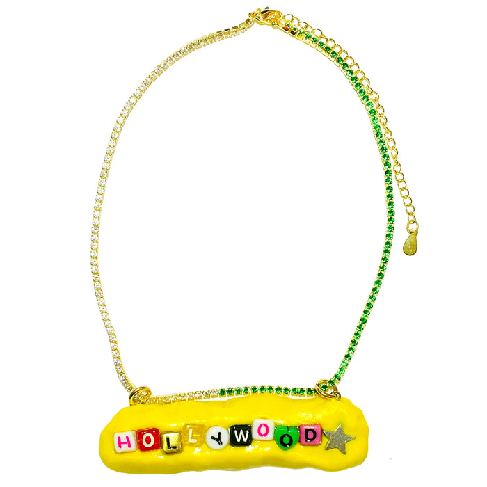 Yellow Hollywood Star Necklace