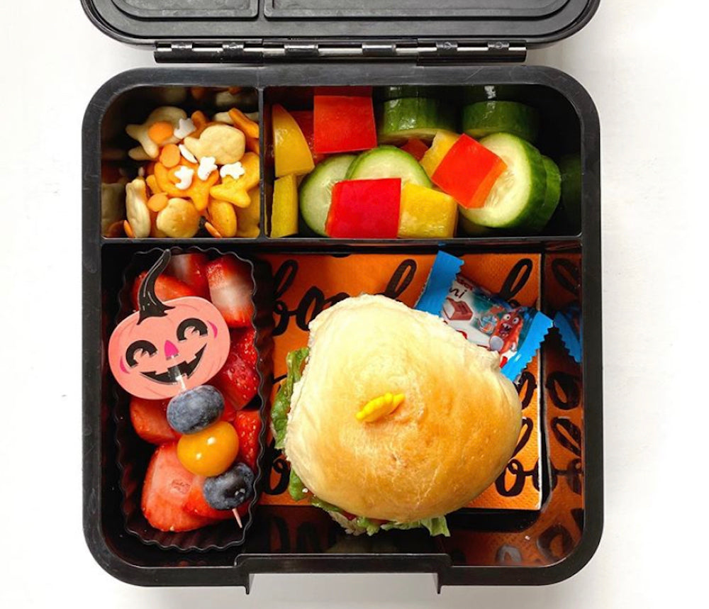 easy halloween bento lunch idea in little lunch box co bento three
