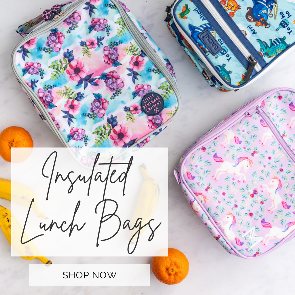 Insulated Lunch bags from Sachi, Little renegade co and Montiico