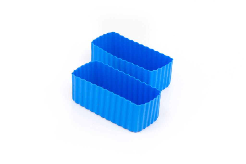 Bento Cups Rectangle - Blue-Bento Cups-Little Lunch Box Co