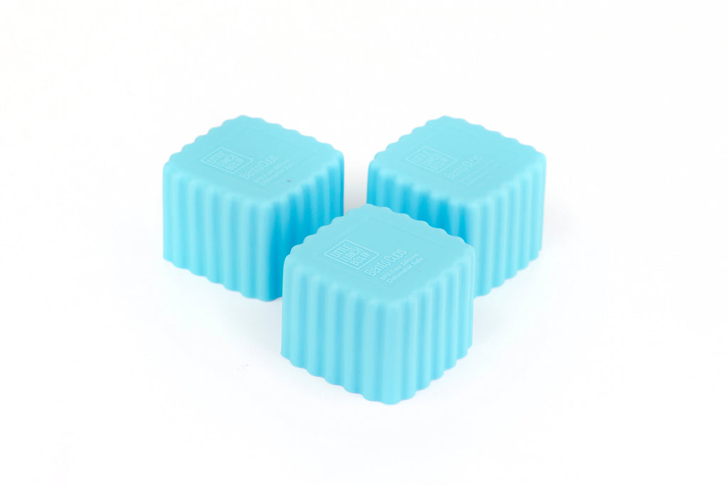 Bento Cups Square - Light Blue-Bento Cups-Little Lunch Box Co