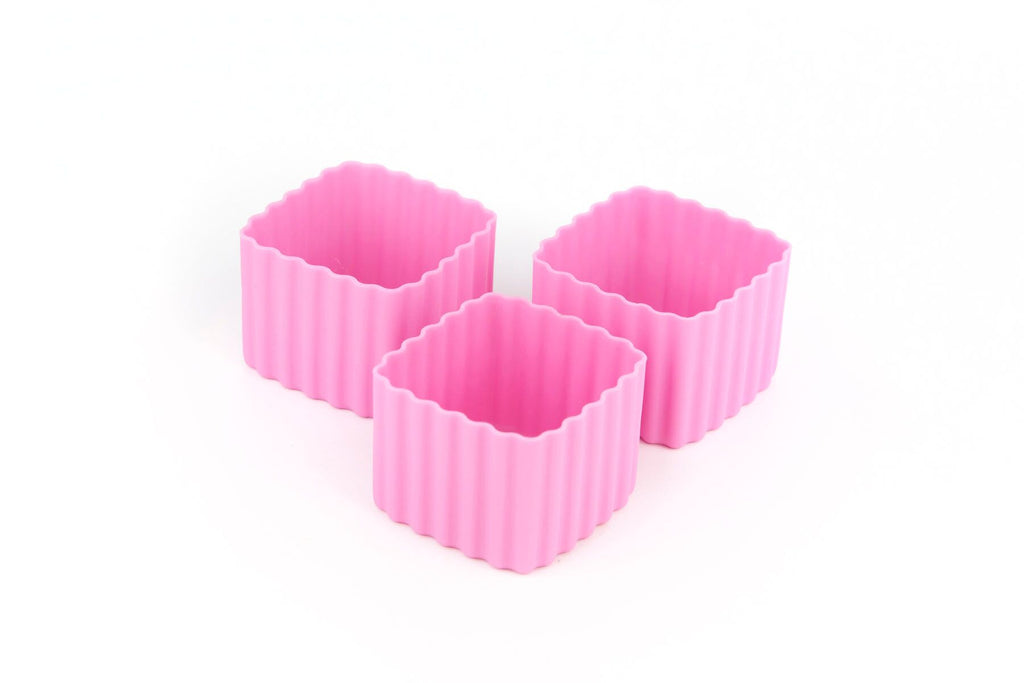 Bento Cups Square - Pink-Bento Cups-Little Lunch Box Co