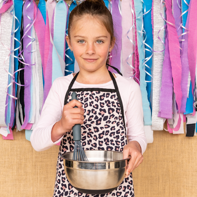 Kids Apron - Leopard PRE-SALES-Apron-Little Lunch Box Co