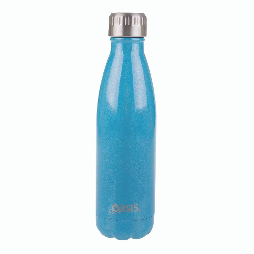 Oasis Insulated Bottle 500ml - Turquoise Lustre-Drink Bottles-Little Lunch Box Co