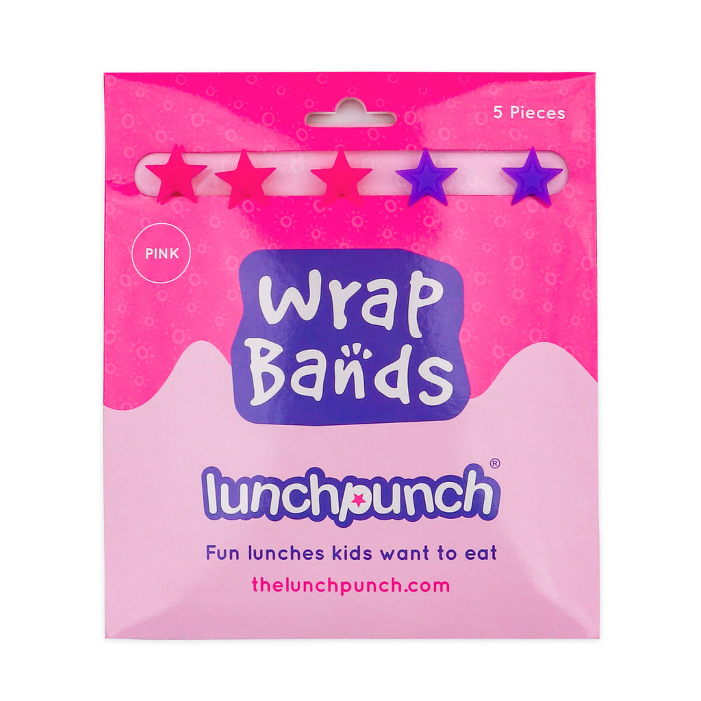 Lunch Punch Silicone Wrap Bands - Pink-Accessories-Little Lunch Box Co