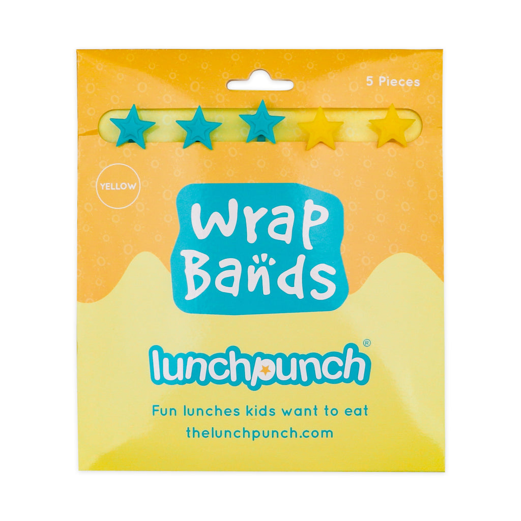 Lunch Punch Silicone Wrap Bands - Yellow-Accessories-Little Lunch Box Co