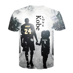 Kobe short sleeve 3D printed T-shirt