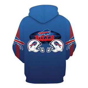 NFL football 3D digital print pullover hoodie