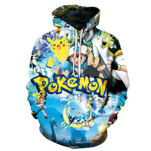 Load image into Gallery viewer, Pokemon go print hoodie