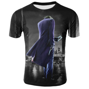 Joker print street fashion men's t-shirt