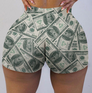 Money print sexy booty shorts