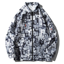 Load image into Gallery viewer, Digital printed casual lapel zipper jacket