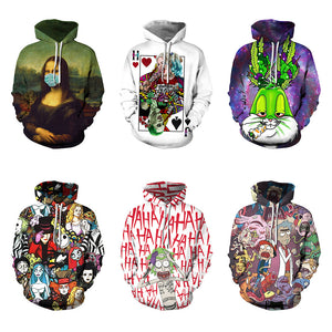 Rick and Morty 3d digital printing hooded pullover sweater
